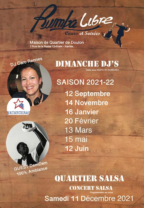 Rumba Libre Salsa Nantes : dimanche DJ's